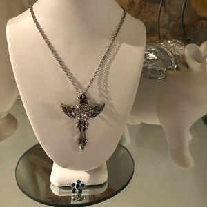 SALE! Cross angel wing interchangeable necklace